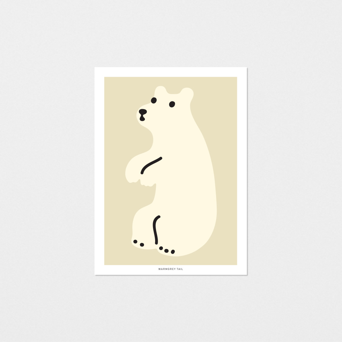 HUGGY BEAR CREAM POSTCARD