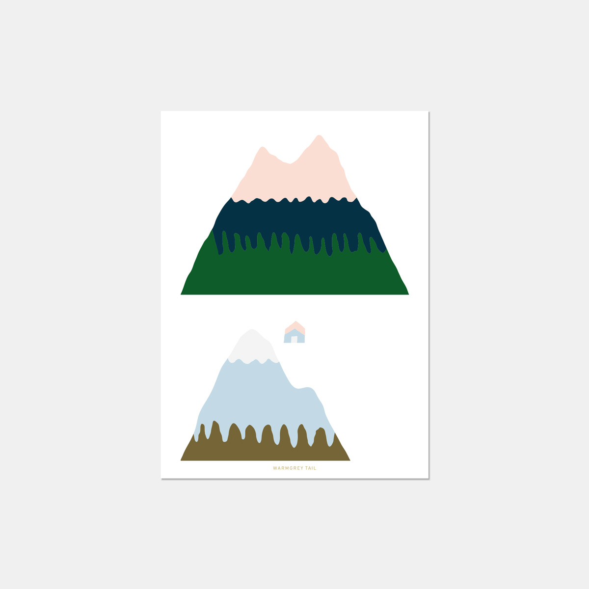 PINK MOUNTAIN POSTCARD