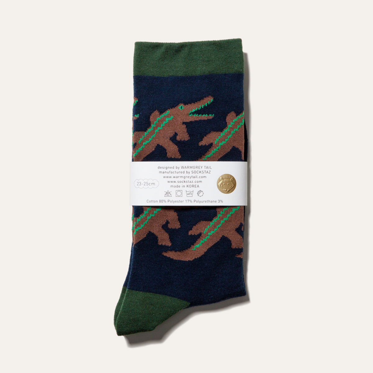 Crocodile - Navy Socks