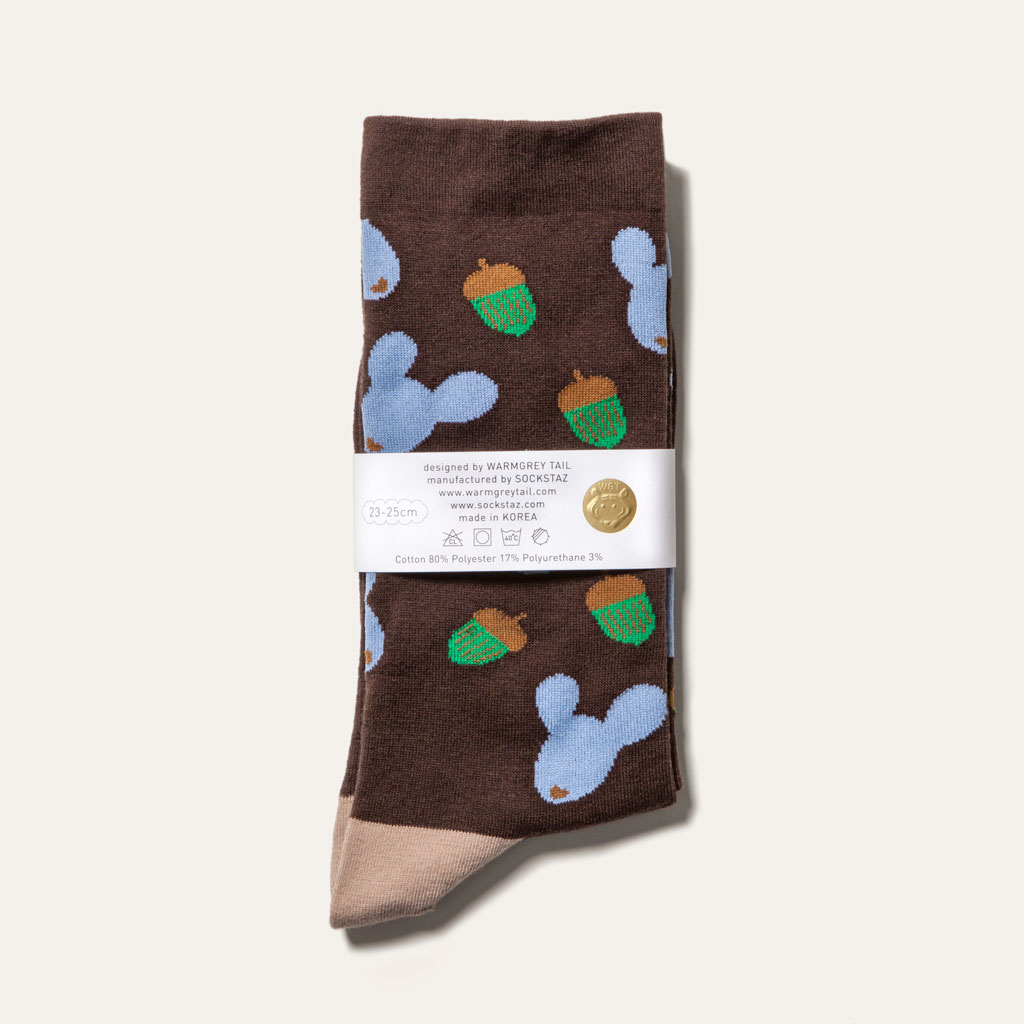 Dotori Life - Brown Socks