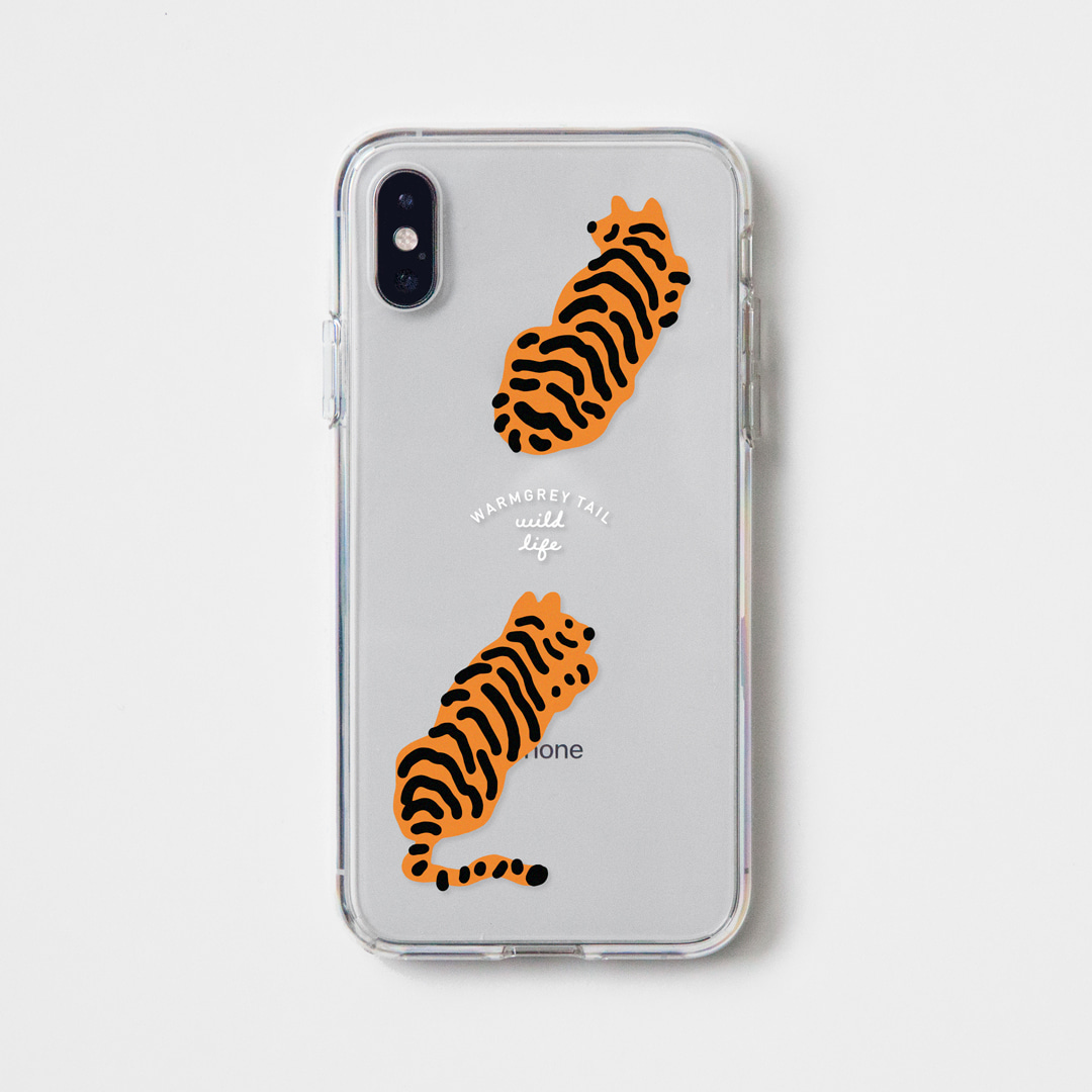 TIGERS CLEAR CASE