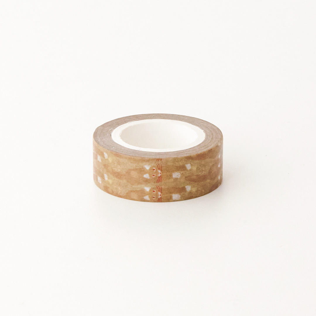 CAT COMING-BROWN MASKING TAPE