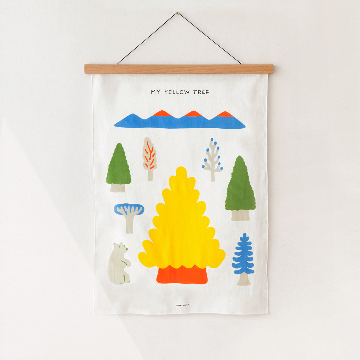 MY YELLOW TREE - BLUE FABRIC POSTER