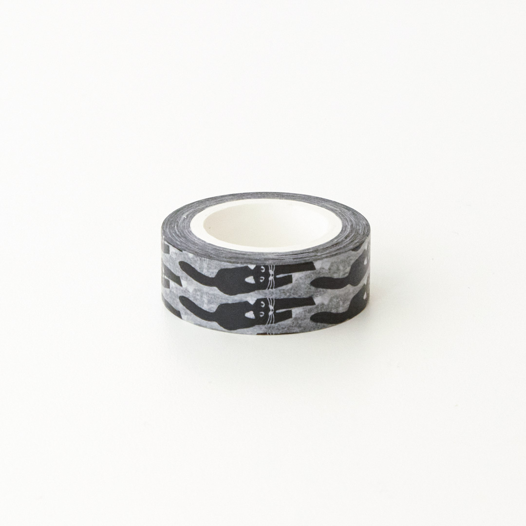 CAT COMING - BLACK MASKING TAPE
